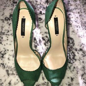 Green Zara heels size 38